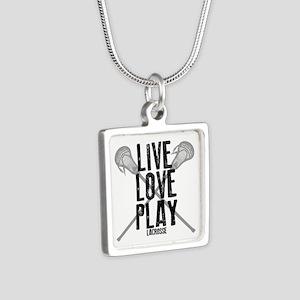 Live, Love, Play Lacrosse Necklaces
