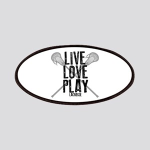Live, Love, Play Lacrosse Patches