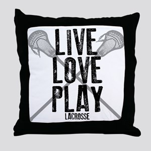 Live, Love, Play Lacrosse Throw Pillow