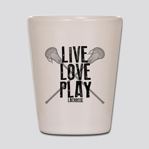 Live, Love, Play Lacrosse Shot Glass