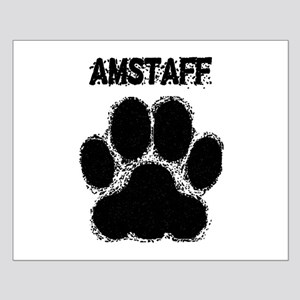 AmStaff Distressed Paw Print Posters
