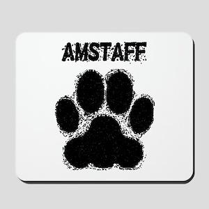 AmStaff Distressed Paw Print Mousepad