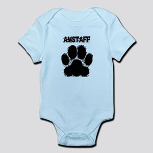AmStaff Distressed Paw Print Body Suit