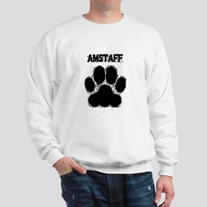 AmStaff Distressed Paw Print Sweatshirt