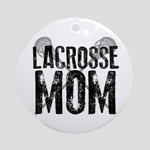Lacrosse Mom Ornament (Round)