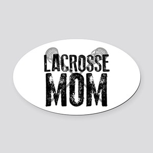 Lacrosse Mom Oval Car Magnet