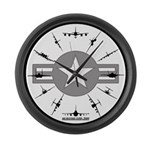 Air Force Aircraft Large Wall Clock