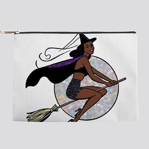 black pin up witch Makeup Pouch