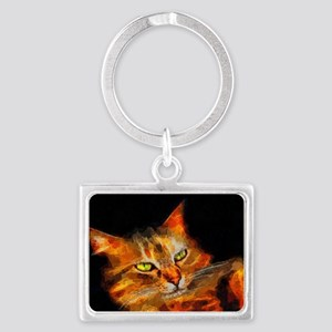 Tabby Cat Landscape Keychain