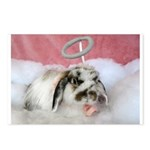 Carrie-Valentine Angel Bunny Postcards (Package of