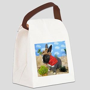 Lucca-Cowboy Bunny Canvas Lunch Bag