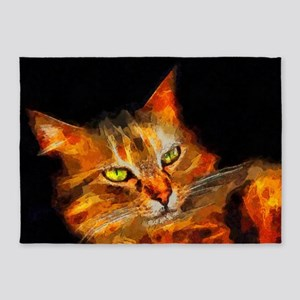 Tabby Cat 5'x7'Area Rug