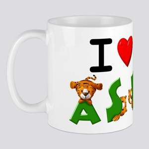 I Love ASL & Lovable Tigers Mug