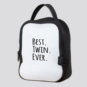 Best Twin Ever Neoprene Lunch Bag