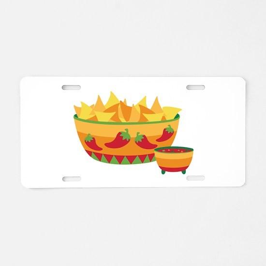Tortilla chips salsa Aluminum License Plate