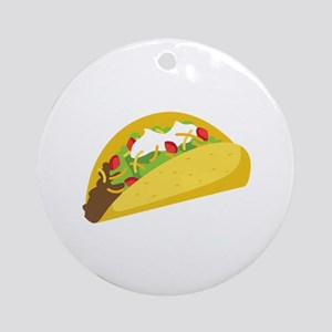 Taco Ornament (Round)