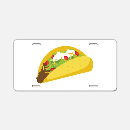 Taco Aluminum License Plate