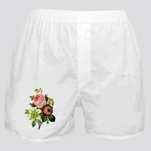 Rosa centifolia, anemone and clematis Boxer Shorts