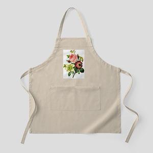 Rosa centifolia, anemone and clematis - bota Apron