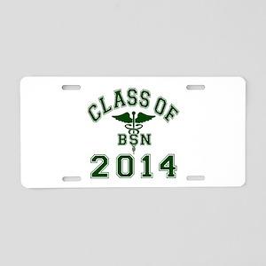 Class Of 2014 BSN Aluminum License Plate