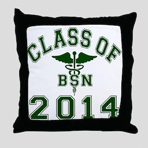 Class Of 2014 BSN Throw Pillow