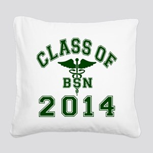 Class Of 2014 BSN Square Canvas Pillow