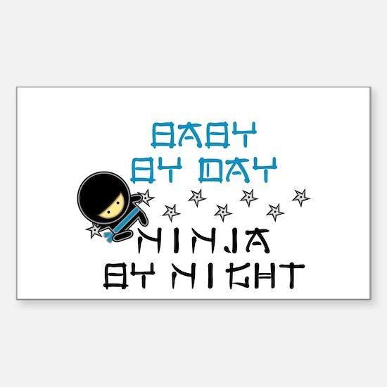 Baby Ninja Blue Stickers