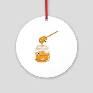 Honey Bees Jar Ornament (Round)