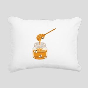 Honey Bees Jar Rectangular Canvas Pillow