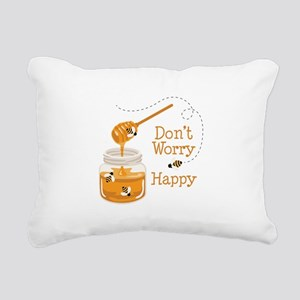 Dont Worry Be Happy Rectangular Canvas Pillow