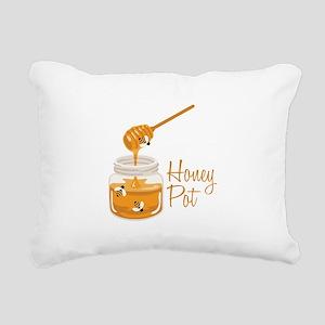 Honey Pot Rectangular Canvas Pillow