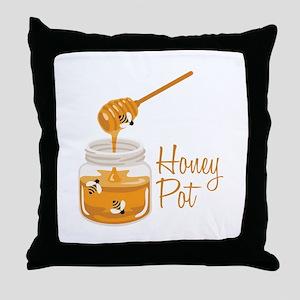 Honey Pot Throw Pillow