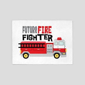 Future Fire Fighter 5'x7'Area Rug