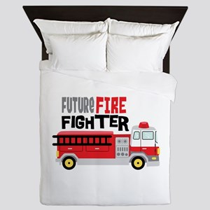 Future Fire Fighter Queen Duvet