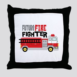 Future Fire Fighter Throw Pillow