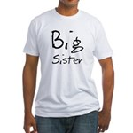 Big Sister (Black Text) Fitted T-Shirt