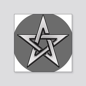 Classic Silver Pentacle Sticker