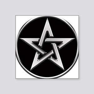 Silver Circle Pentagram Sticker