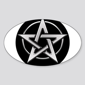 Inside Circle Pentagram Sticker