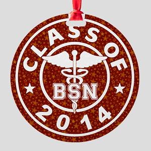 Class Of 2014 BSN Round Ornament