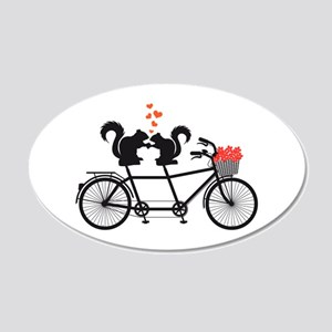 tandem bicycle with squirrels Wall Decal