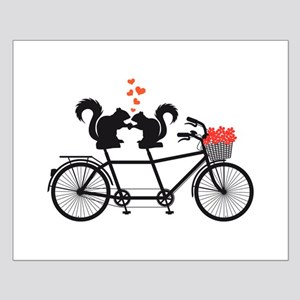 tandem bicycle with squirrels Posters
