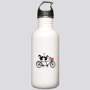 tandem bicycle with squirrels Water Bottle