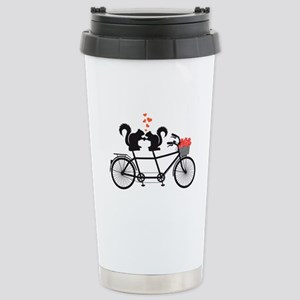tandem bicycle with squirrels Travel Mug