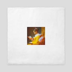 Fragonard Reading Girl Queen Duvet