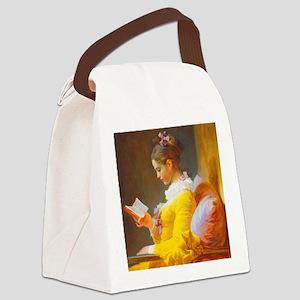 Fragonard Reading Girl Canvas Lunch Bag