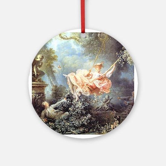 Fragonard - The Swing painting Ornament (Round)