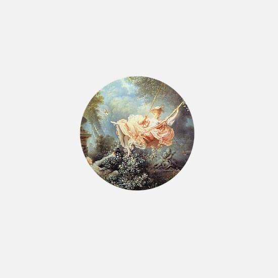 Fragonard - The Swing painting Mini Button