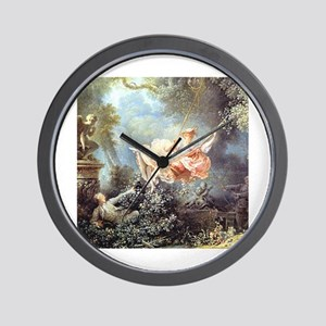 Fragonard - The Swing painting Wall Clock