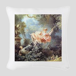 Fragonard - The Swing painting Woven Throw Pillow